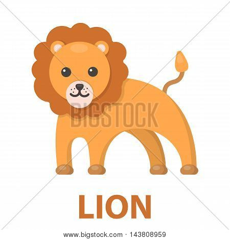 Lion cartoon icon. Illustration for web and mobile.