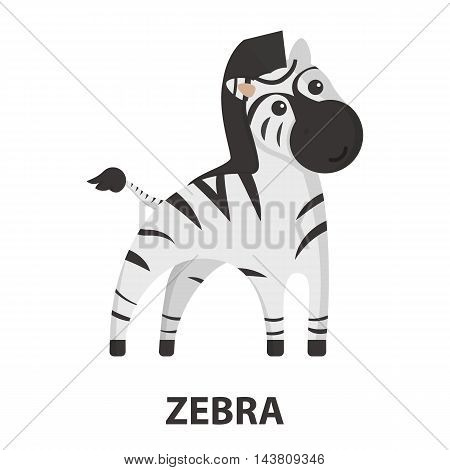Zebra cartoon icon. Illustration for web and mobile.