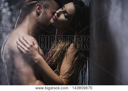 Hot Love Under Shower