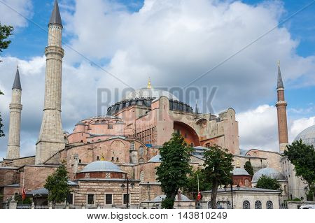 Greek Orthodox Christian patriarchal basilica (church) later an imperial mosque and now a museum in Istanbul Turkey