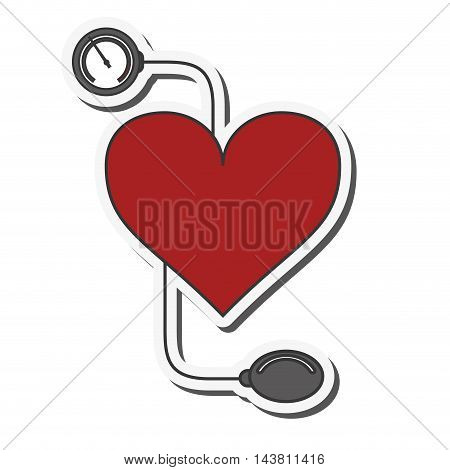 flat design blood pressure cuff icon vector illustration