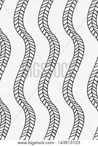 Black Marker Vertical Braids