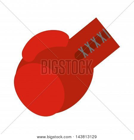 flat design boxing gloves icon vector illustration