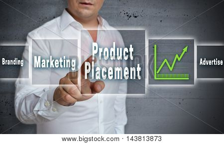 product placement touchscreen concept background picture template