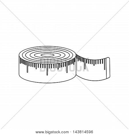 Measuring tape icon of vector illustration for web and mobile design