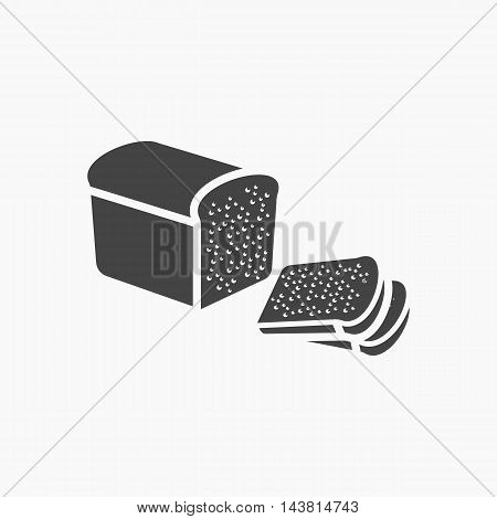 Bread icon of vector illustration for web and mobile design