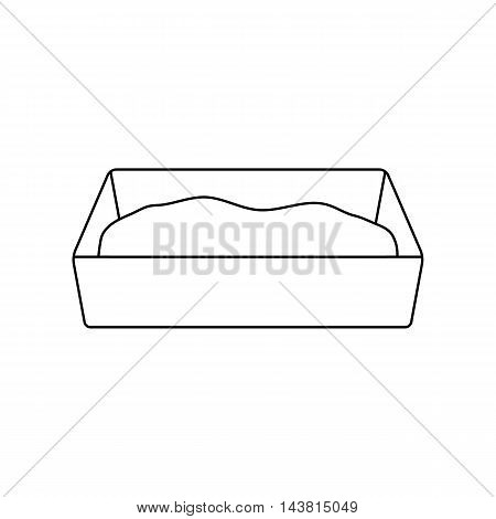 Litter box icon of vector illustration for web and mobile design
