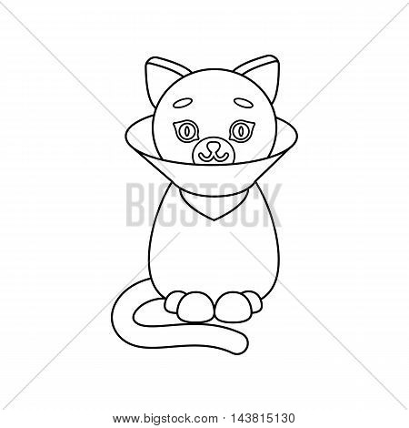 Cat sick icon of vector illustration for web and mobile design