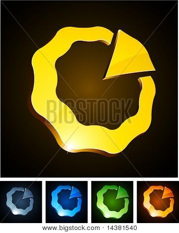 Vector illustration of shiny symbols.