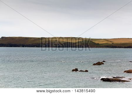 View Along The Coast From Rock Near Padstow