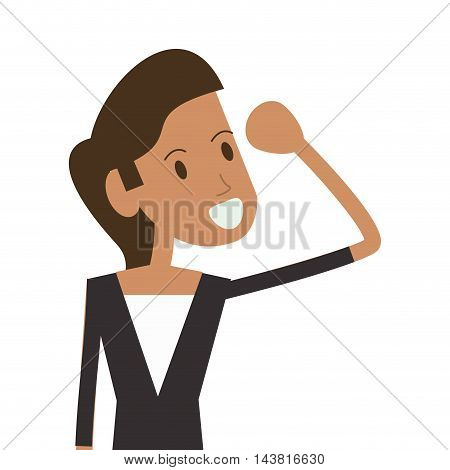 businesswoman cartoon woman female avatar business icon. Flat and Isolated design. Vector illustration