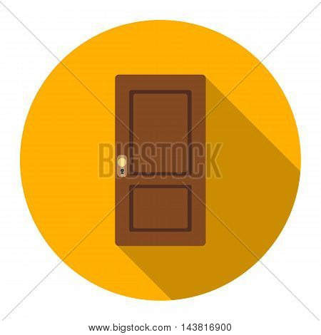 Door icon of vector illustration for web and mobile design