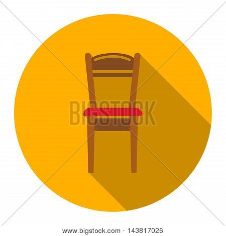 Chair icon of vector illustration for web and mobile design
