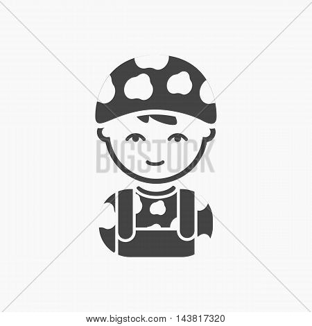 Soldier black icon. Illustration for web and mobile.