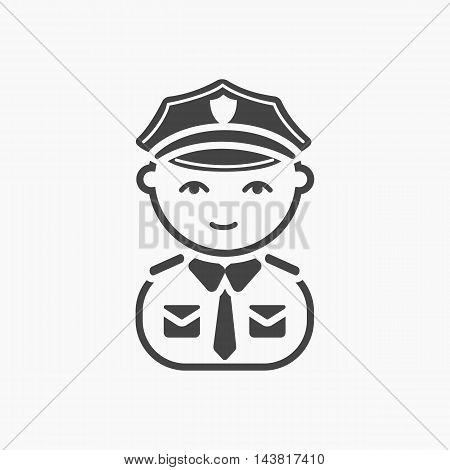 Policeman black icon. Illustration for web and mobile.