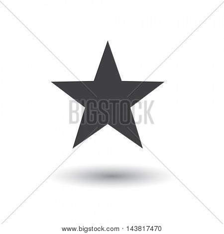 Star icon illustration on a white background