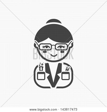 Scientist black icon. Illustration for web and mobile.