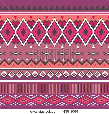 Tribal Boho Seamless Pattern. Ethnic Geometric Ornament. Aztec print. Boho Pattern. Fabric, Wallpaper and Wrapping Texture.