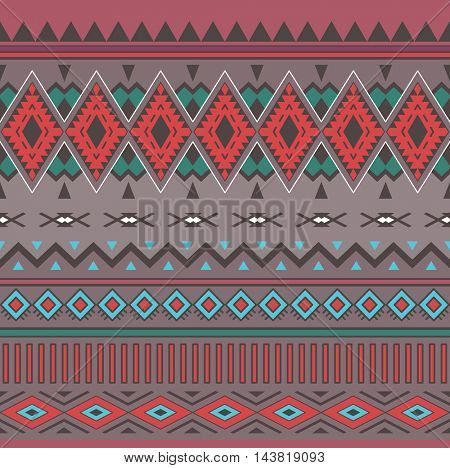 Tribal Boho Seamless Pattern. Ethnic geometric ornament. Vintage seamless background. Boho  Pattern. Texture for Fabric, Wallpaper and Wrapping.