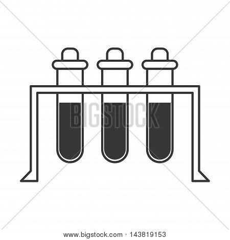 tube flask science laboratory icon. Flat and Isolated design. Vector illustration