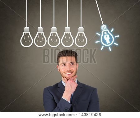 Businessman Human Resource Ideas Working Businessman Conceptual