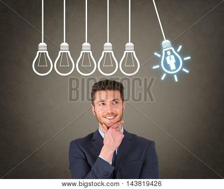 Businessman Human Resource Ideas Working Businessman Conceptual