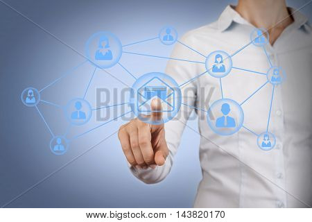 Communication Concept Work on Visual Screen Working Businessman Conceptual