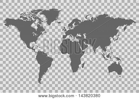 World map on a checkered background