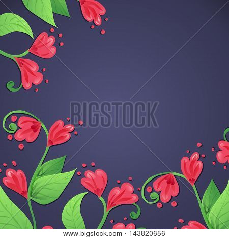 Ethnic floral pattern. Abstract ornamental pattern design