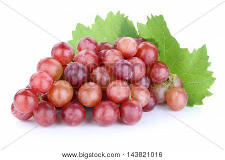 Grapes Red Fruits Fruit Isolated On White