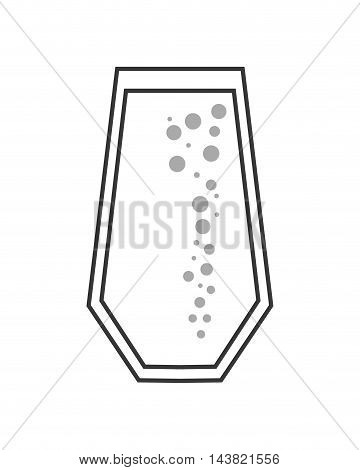 juice glass drink beverage fresh icon. Flat and isolated design. Vector illustration