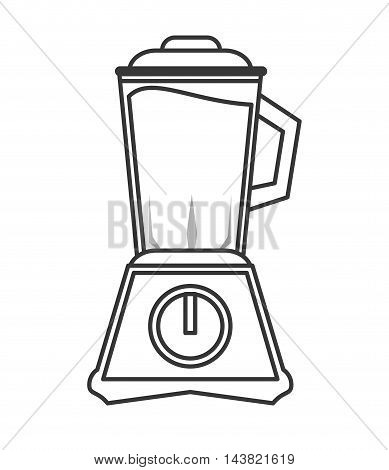 blender appliance juice drink beverage fresh icon. Flat and isolated design. Vector illustration