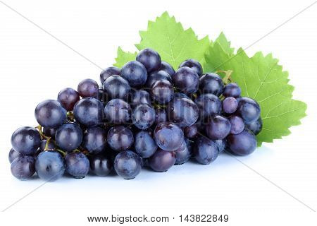 Grapes Blue Fruits Fruit Isolated On White