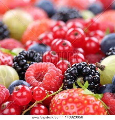 Berry Fruits Berries Fruit Collection Strawberries, Blueberries Raspberries Copyspace