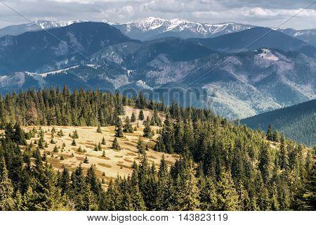 View from Great Fatra range at Slovakia