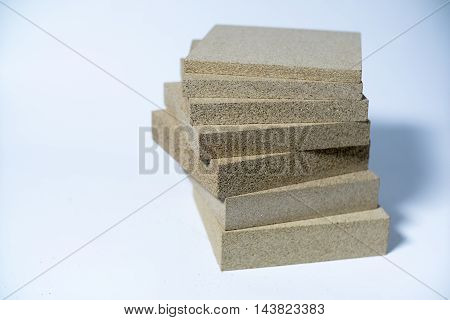 Termo Plate made of Mineral Vermiculite Samples for Production.