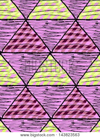 Inked Triangles Scribbled