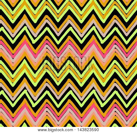 Inked Triangles Striped Chevrons