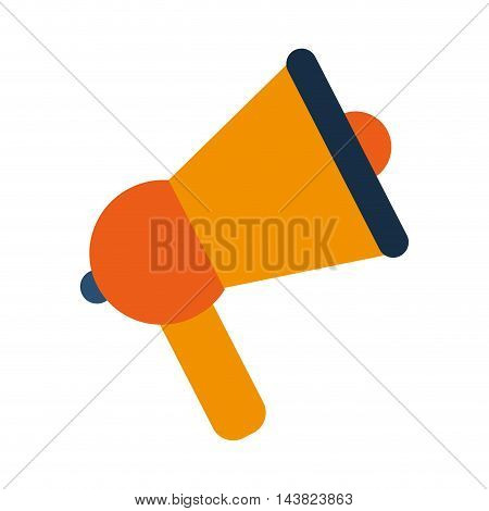 megaphone communication machine speach  icon. Flat and isolated design. Vector illustration