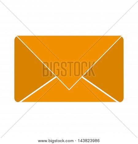 envelope email mail message communication icon. Flat and isolated design. Vector illustration