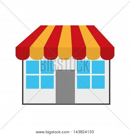 store shop small retail market commerce icon. Flat and isolated design. Vector illustration