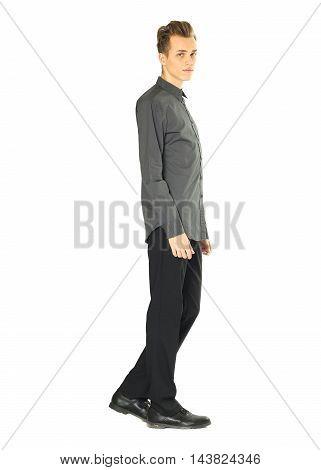 Beautiful man isolated on white background isolated