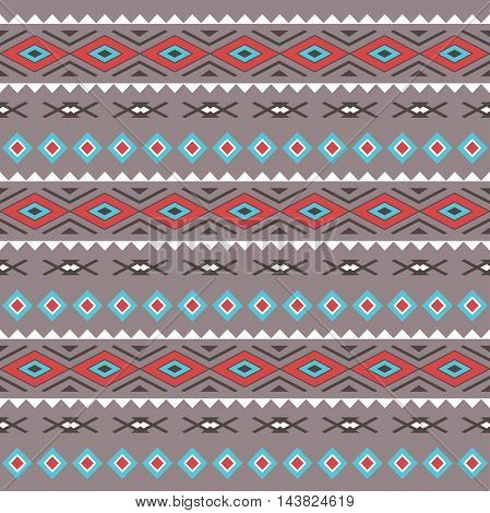 Tribal Boho Seamless Pattern . Ethnic Geometric Ornament. Boho  Pattern. Fabric, Wallpaper and Wrapping Texture.