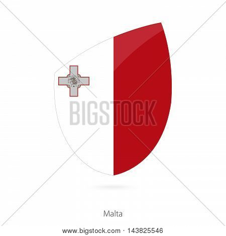 Flag Of Malta In The Style Of Rugby Icon.