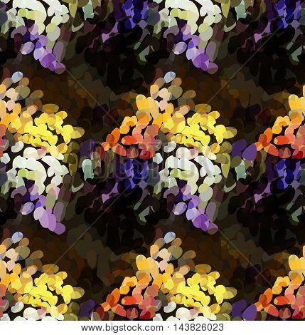 Mosaic With Orange And Purple