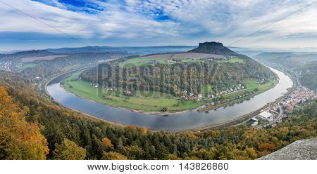 Elbe in Saxony alps