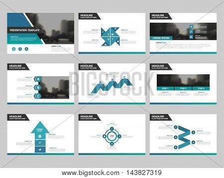 Blue green Abstract presentation templates Infographic elements template flat design set for annual report brochure flyer leaflet marketing advertising banner template