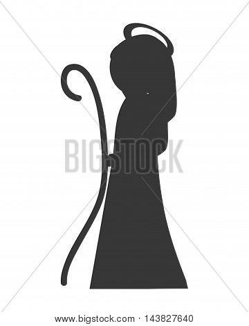 virgin mary religion holy, isolated vector illustration