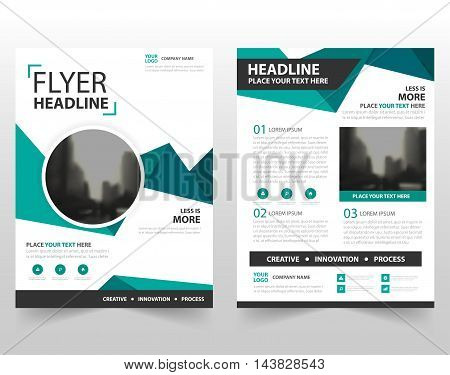 Green triangle vector Brochure Leaflet Flyer template design book cover layout design abstract business presentation template a4 size design