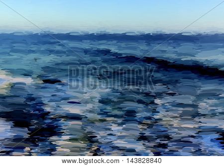Abstract Oil Painted Ocean